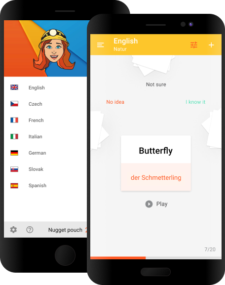 Vocabulary Miner Flashcard app